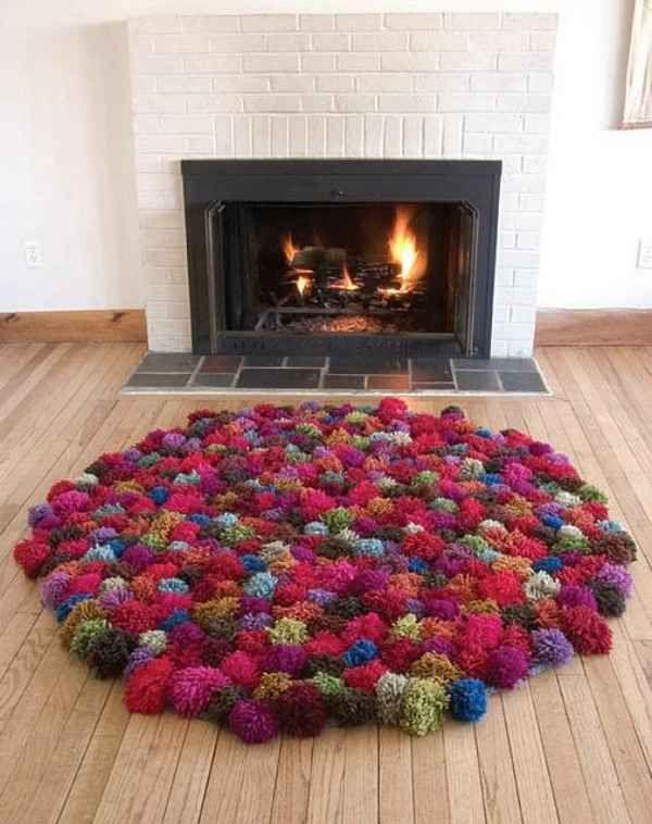 Creando una alfombra de pompones