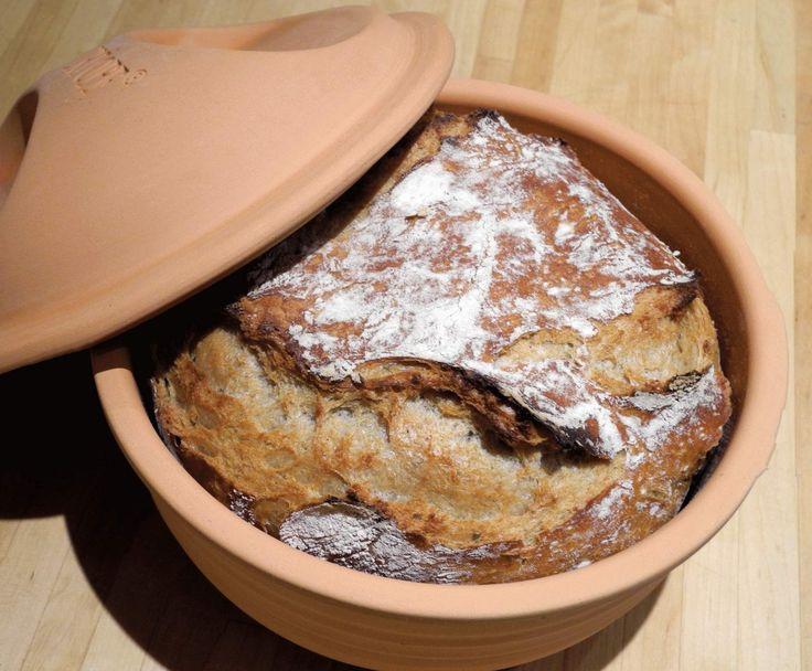 Rezept Vollkornbrot im Römertopf von MiriSmyk - Rezept der Kategorie Brot & Brötchen