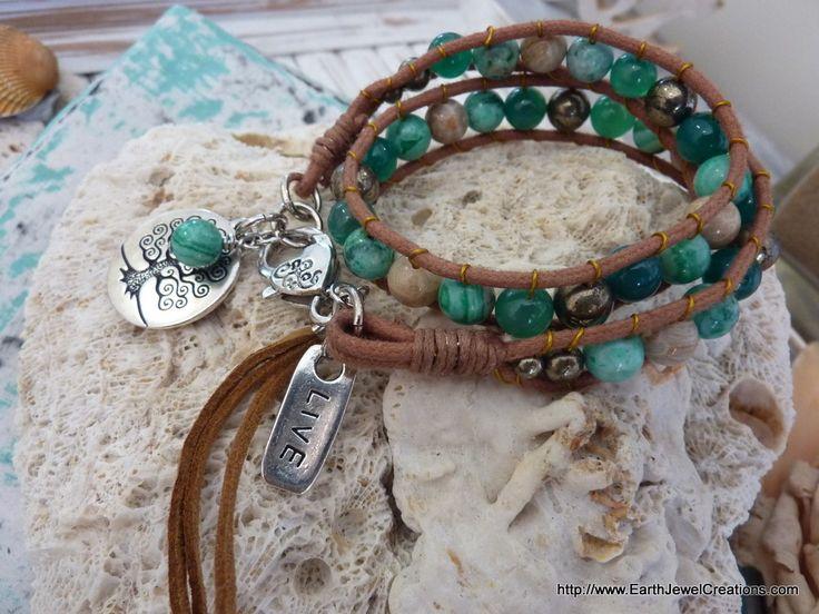 Joy & Love Double Wrist Wrap - handmade crystal energy gemstone jewellery Earth Jewel Creations Australia