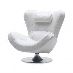 Sillón Moderno Giratorio A386 Blanco de Angel Cerdá #Sillones  #modernos en nuryba.com tu tienda online de #muebles y #decoracion de interiores en #madrid. Visita la colección de sillones de Angel Cerdá en http://www.nuryba.com/angel-cerda y nuestro blog de decoracion en http://www.nuryba.com/blog/