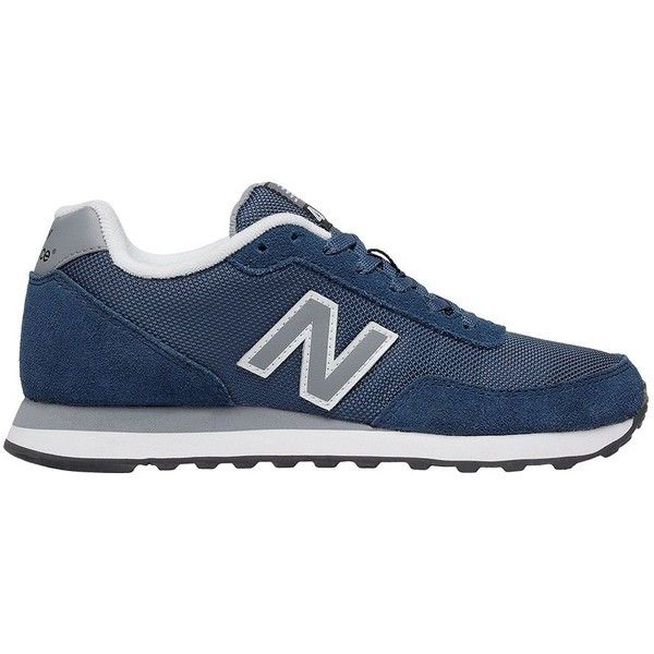 New Balance 411 Lace-Up Sneakers ($65) ❤ liked on Polyvore featuring shoes, sneakers, navy blue, navy blue sneakers, navy blue shoes, round cap, round toe sneakers and navy shoes