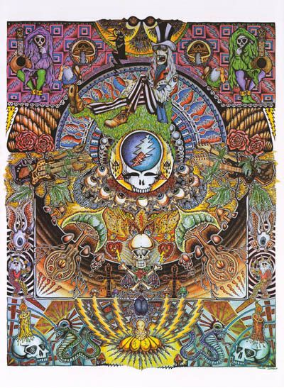 An awesome Grateful Dead poster with a totally far-out psychedelic mandala design! Fully licensed. Ships fast. 24x36 inches. Check out the rest of our amazing selection of Grateful Dead posters! Need