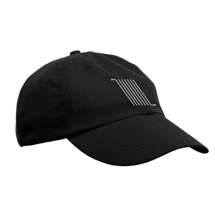 """Made in Los Angeles. Black """"Dad"""" Hat withembroidered Bars Logo on the front, and Thrice logo on the back."""