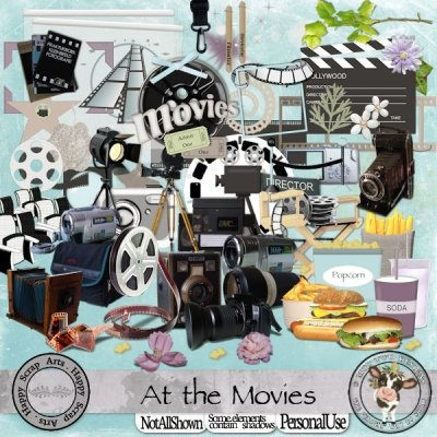 At The Movies [Happy Scrap Arts] - $6.00 : Moo Two Designs, The Udder way to Scrap!
