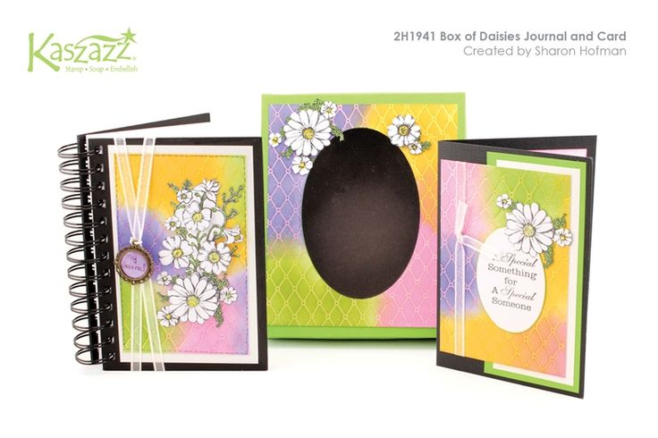 2H1941 Box of Daisies Journal and Card