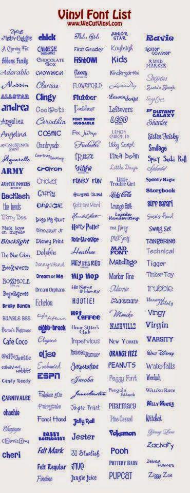 Tutorials Silhouette Cameo Fonts/ Lettertypes geschikt voor vinyl