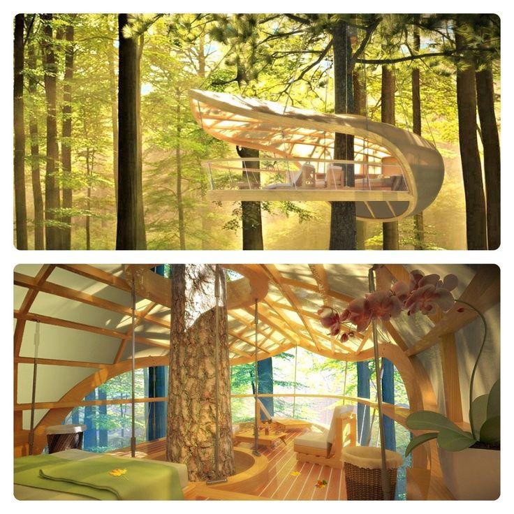 #treehouse  www.legnopan.com  http://inhabitat.com/eterra-samara-is-an-environmentally-sensitive-treehouse-resort-in-the-canadian-forest/