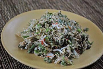 "Javanese raw salad ""trancam""."
