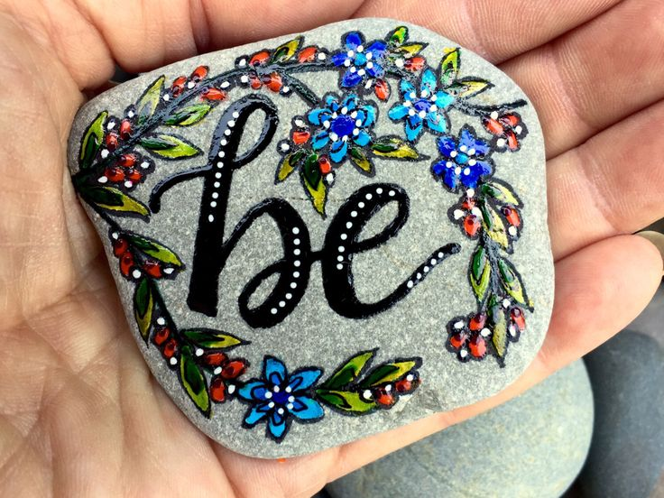 A personal favorite from my Etsy shop https://www.etsy.com/listing/470318077/be-painted-rocks-painted-stones-rock-art