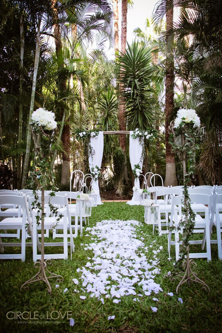 Enchanted Forest Garden Wedding Ceremony Styling www.circleofloveweddings.com.au