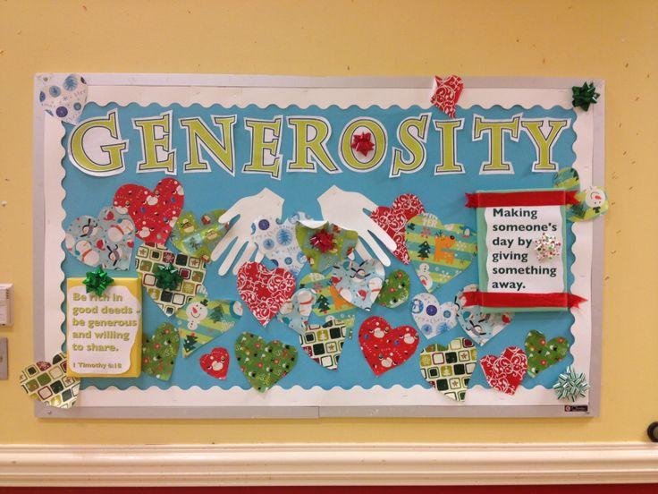 Core Virtue: Generosity bulletin board