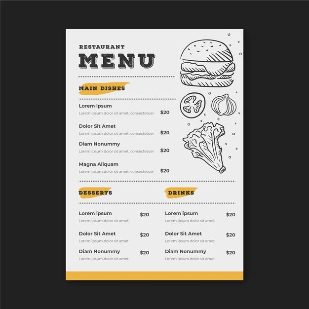 Download Restaurant Menu Template With Drawings For Free Menu Design Ideas Templates Restaurant Menu Template Menu Restaurant