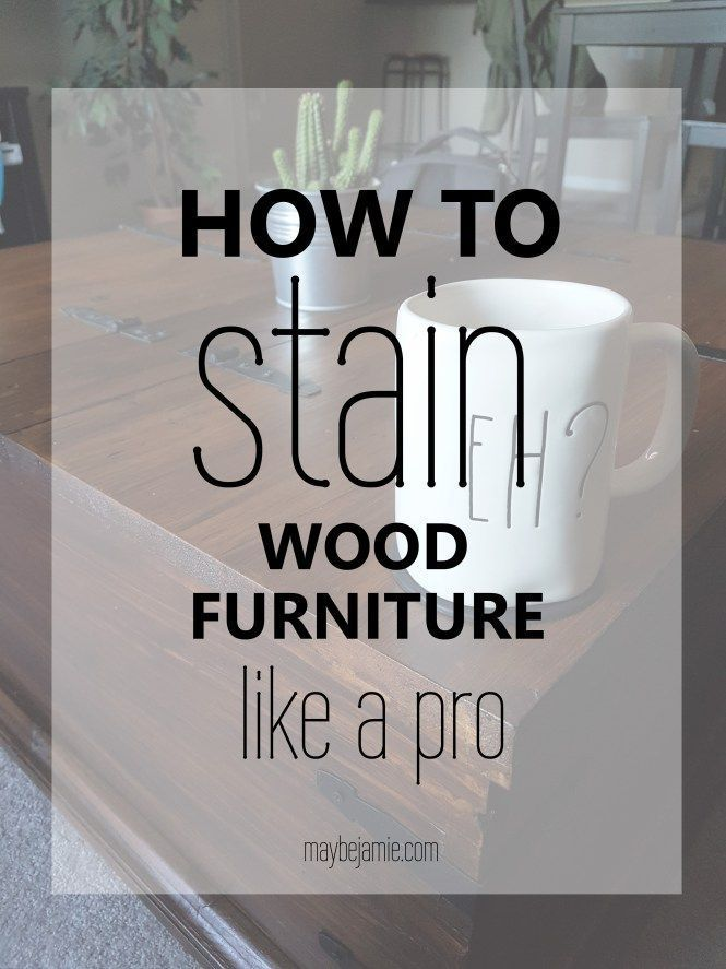 An easy tutorial on how to stain wood furniture or home decor! Transform your old furniture into something new with my simple steps.