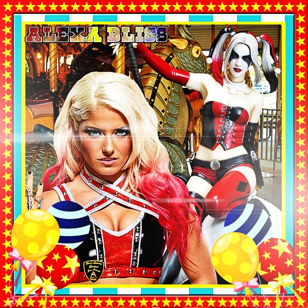 todays theme merry go round style with harley quinn in middle of the action hope everyone enjoys this theme  Black Lightning alexa bliss