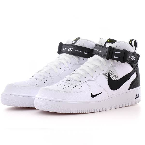 fff3ac05669 nike AIR FORCE 1 MID  07 LV8 WHITE BLACK-TOUR YELLOW