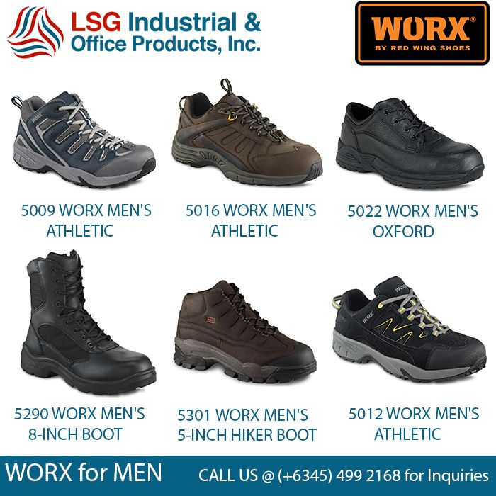 Looking for the strongest brand when it comes to footwears? You'll definitely go with WORX by Red Wing!!! From work boots to atheletic and hiker boots, we offer worx shoes at LSG Industrial. Please call (+6345) 499 2168 for inquiries. #worx #redwing
