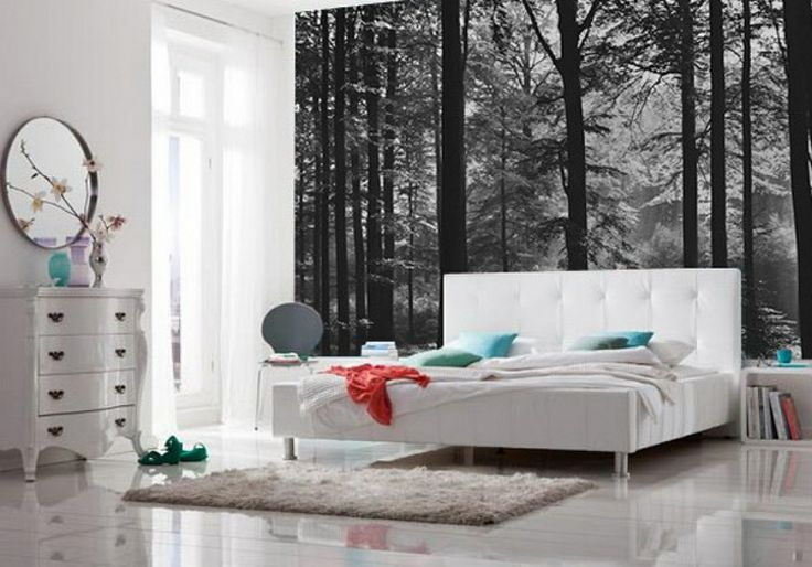 bedroom bliss. Forests, Forest wallpaper and Bedrooms