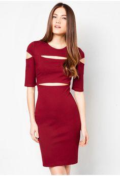 Red dress zalora credit