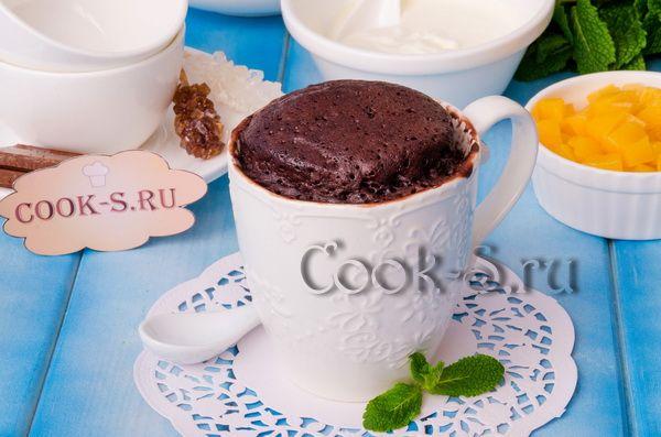 шоколадный кекс в микроволновке за 5 минут в кружке