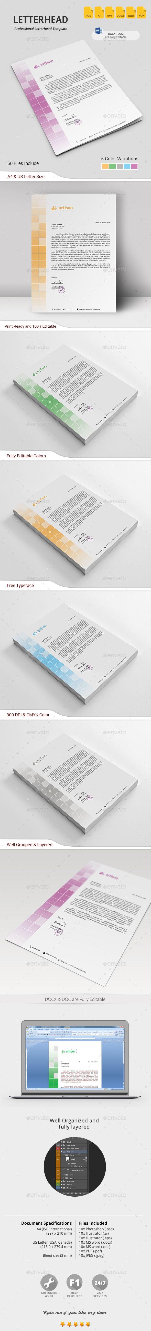 #Letterhead - #Stationery Print #Templates Download here: https://graphicriver.net/item/letterhead/19500468?ref=alena994