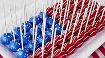 Patriotic Cake Pops~ Need cake pops molds? Choose among these! http://www.jennyreviews.com/?s=+cake+pops