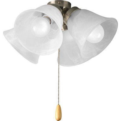 Winston Porter 4 Light Branched Ceiling Fan Light Kit Finish