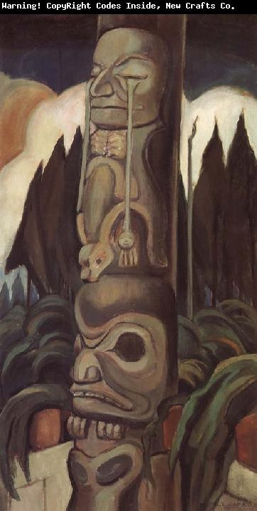 some of Emily Carr's work from the Haida Gwaii area