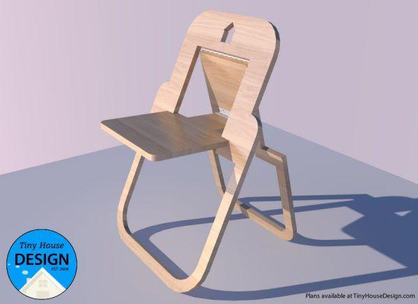 Flat Folding Chair Tiny House Design Folding Chair Tiny House Design Small Woodworking Projects