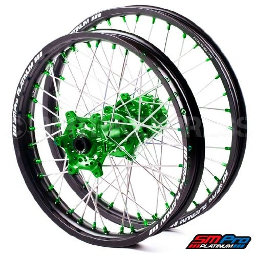 SM Pro Platinum Motocross Wheel Set - Kawasaki