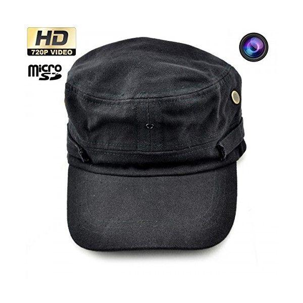 Casquette caméra espion HD 720P Mini appareil photo Noir