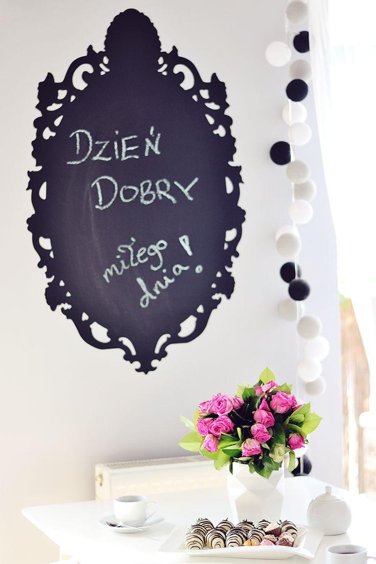 Blackboard sticker from dekornik.pl. Picture by zatrzymujacczas.pl.