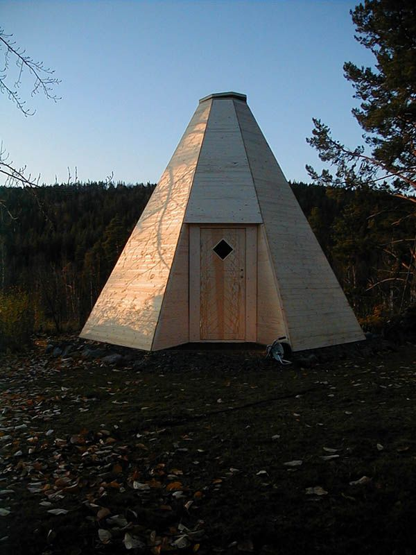 How To Build A Sami Hut In Wood The Spare Room Wooden