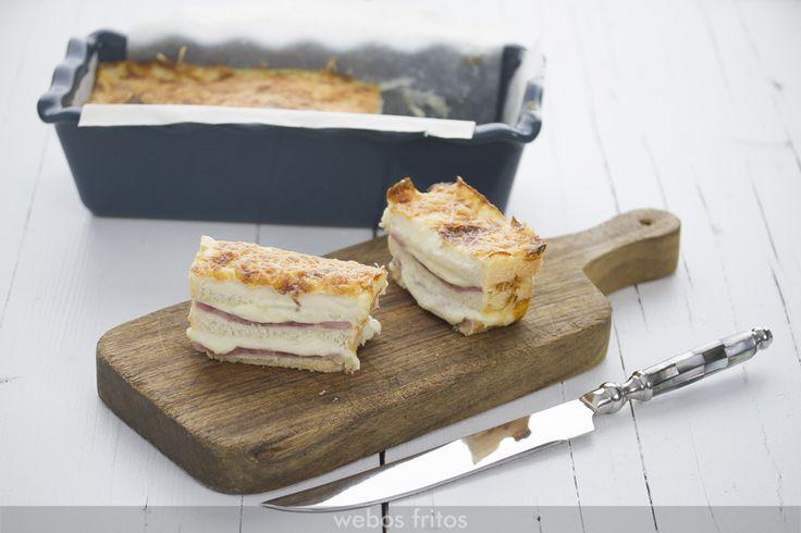 Croque cake de jamon y queso