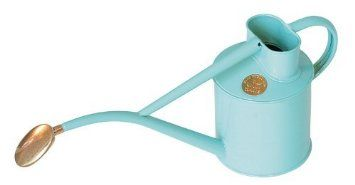 Haws Hand-Made 1-litre Metal Watering Can & Brass Rose, Gift Boxed, Duck Egg Blue: Amazon.co.uk: Garden & Outdoors