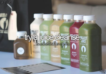 Try a Juice Cleanse