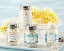 Personalized Glass Mason Jar Baby Favor Containers Are Superb For Creating  Cheap DIY Baby Shower Favors