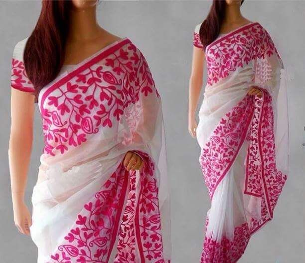 All Supernet organza Aari work sarees | Buy Online Sarees | Elegant Fashion Wear