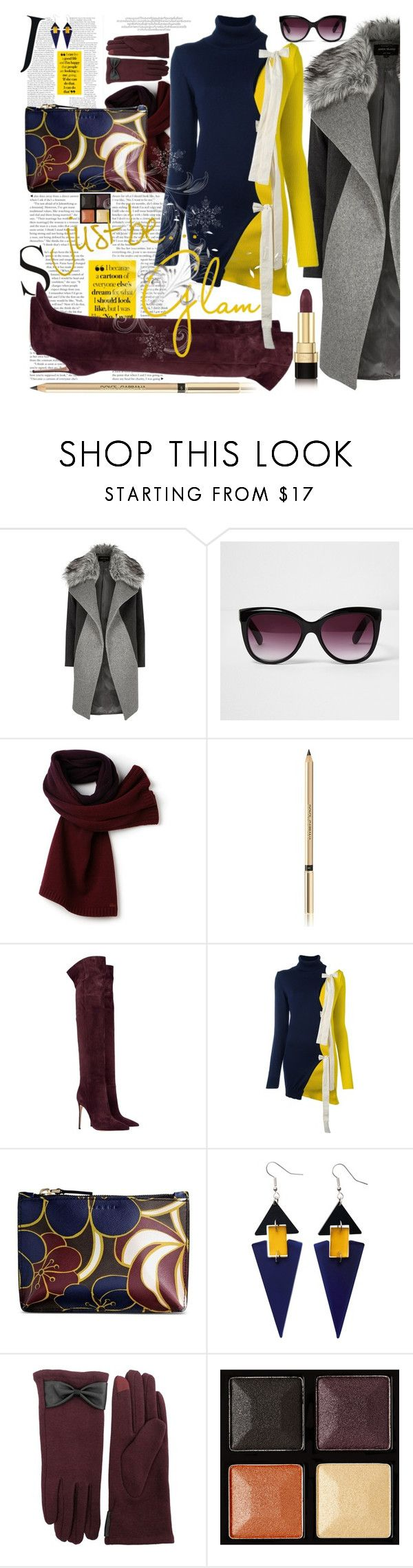 """Jacquemus Bow Detail Contrast Jumper"" by the-wardrobe-of-wishes ❤ liked on Polyvore featuring River Island, Lacoste, Dolce&Gabbana, Jacquemus, Marni, Toolally, Fits and Givenchy"