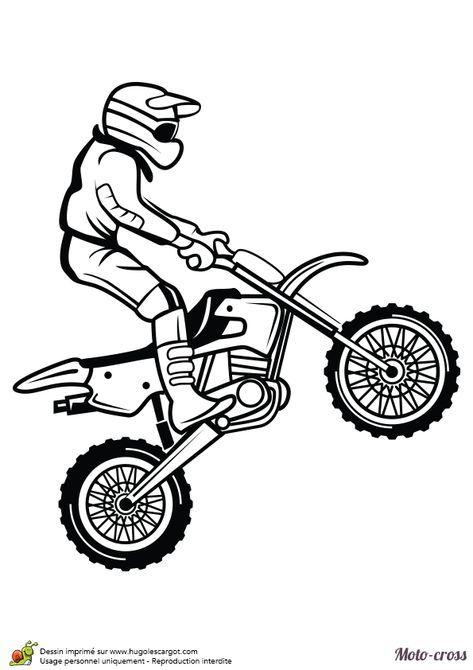 Coloriage Dun Homme Faisant Un Petit Saut Avec Son Moto Cross