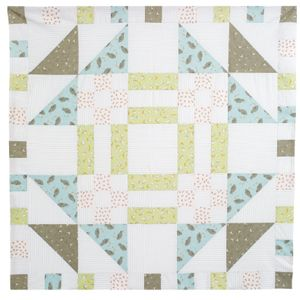 IT'S SUPERSHEEP Free crib size quilt pattern designed by LORI BAKER: Lori used fabric from Moda's Darling Little Dickens collection and one big block to make this quick baby quilt.  Free quilt pattern at the link!