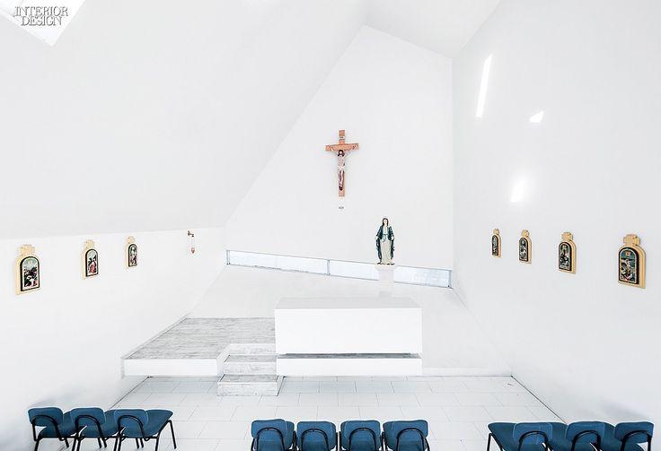 Stronger Than The Storm: Colegio Santa Rosa de Constitución | The sanctuary has a 30-foot ceiling. #interiordesign #interiordesignmagazine #design #architecture