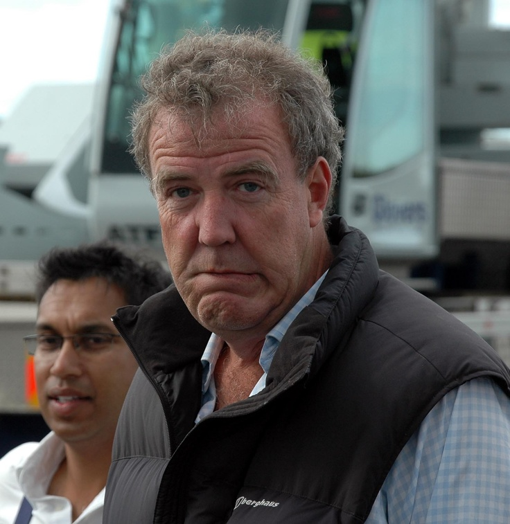 Jeremy Clarkson: Classic something's about to go wrong/i'm in trouble face
