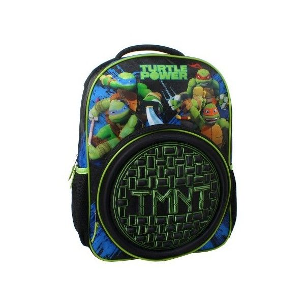 """Teenage Mutant Ninja Turtles 16"""" Tech Shell Backpack - Multicolored :... ❤ liked on Polyvore featuring bags, backpacks, shell backpack, daypack bag, colorful backpacks, multi coloured bags and multicolor bag"""