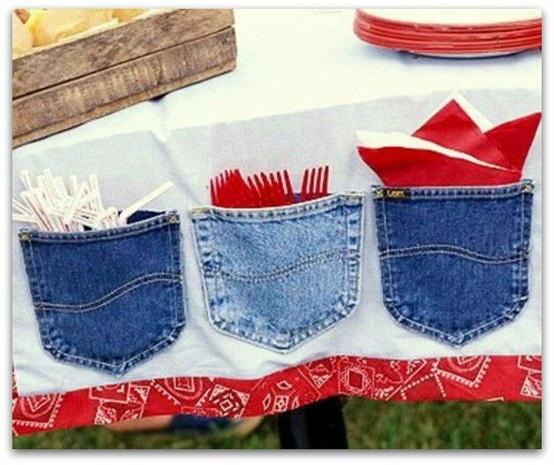 Un lugar muy apropiado, para guardar los cubiertos y las servilletas en las fiestas facebook.com/thingsofmother.com