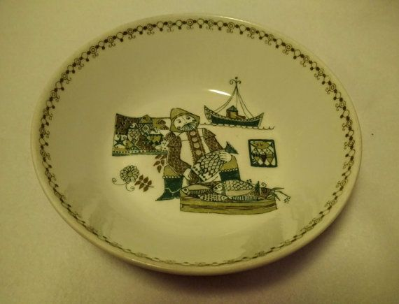 Vintage Figgjo Flint Turi-Design Market Norway Bowl by VintageEves