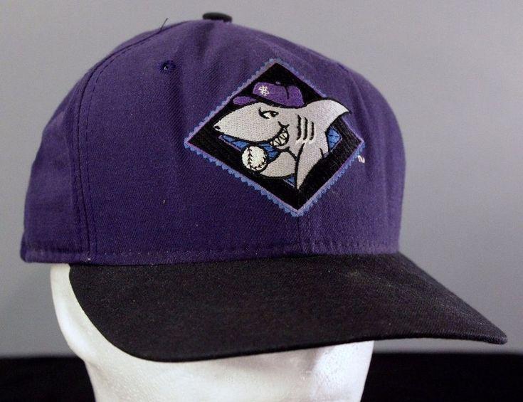 VTG Honolulu Sharks Baseball Cap Snapback Hat New Era Purple Hawaii Baseball USA #NewEra #Snapback