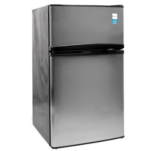 Avanti RA3136 Energy Star 3.1 Cu. Ft. Two Door Compact Refrigerator/Freezer, Clear
