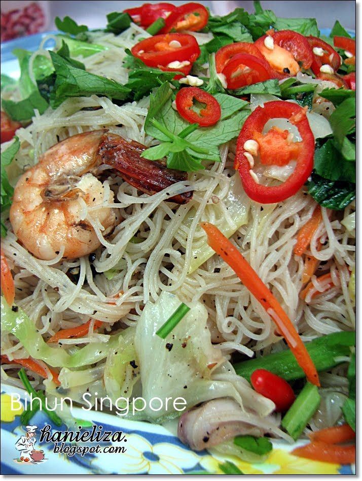 Hanieliza's Cooking: Bihun Singapore