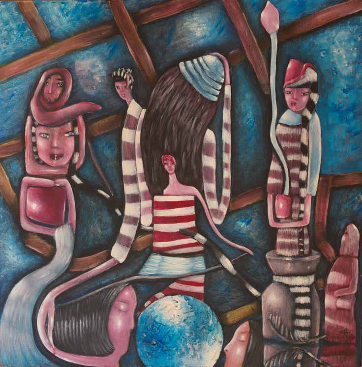 "VWL/Twen/011 (Paris 2012 ""Women'  s Year"")-Acrylic on  canvas/Acrylique sur  toile/Acrylico sobre  tela (60X60cm)"