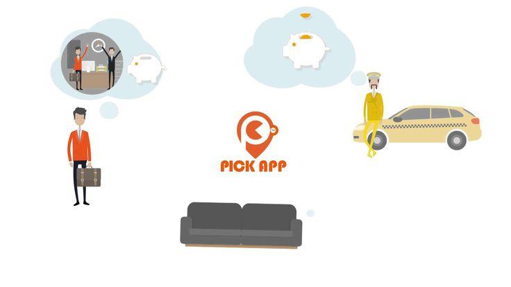 Infografika animáció készítés - PickApp mobil applikáció